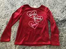 GAPKIDS GIRLS RED TOP SIZE 6-7 SMALL VALENTINES BEST FRIENDS FOREVER