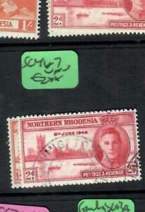 NORTHERN RHODESIA (P1508B)  KGVI  PEACE  SG 46-7   VFU