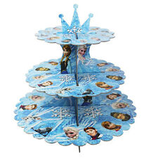 DISNEY congelato Cartone Cupcake STAND a tre livelli ROUND Torre-BAMBINI COMPLEANNO