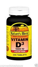 Nature's Blend Vitamin D3 1000IU Tablets, 300ct 079854050233A807