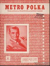 1951 Willie Evans & George Vaughn / Frankie Laine Sheet Music (Metro Polka)