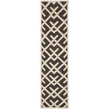 """Safavieh Brown/ Ivory Flat weave Wool 2' 6"""" x 10' Runner"""