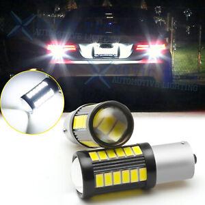 2pcs Projector Lens LED Reverse Backup Light Bulbs 1156 7506 for VW Jetta Passat