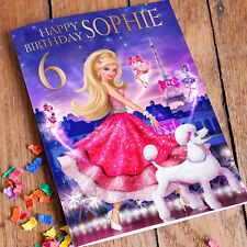 BARBIE PRINCESS Personalised Birthday Card! FREE 1st Class Shipping!