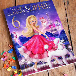 BARBIE PRINCESS Personalised Birthday Card! FAST 1st Class Shipping!