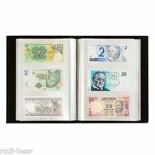 Banknotenalbum in schwarz für 300 Banknoten preisgünstig in toller Optik  345089
