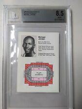 🏀 Michael Jordan Rookie 1984-85 Chicago Bulls Schedule Card RC BGS 8.5 🔥