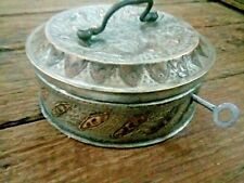 Indian Antique Hand Crafted brass Hand engraved Jewllery box with lock key