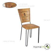 Set de 2 chaises en métal noir pour votre intérieur vintage dans la cuisine o...