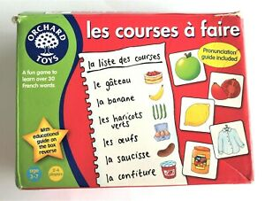 Orchard Toys Les Courses a Faire Learn French Shopping List Incomplete Game