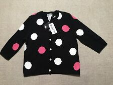 NEW Pendleton Women's Cardigan Sweater Button Front Polka Dot Size S Petite #J7