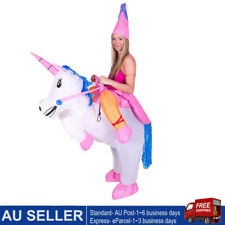 Inflatable Unicorn Costume Suit Adult Ride Novelty Fancy Dress Party Outfit Fan