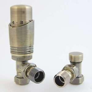 Antique Brass TRV Radiator valves  Corner / Straight / Angled great quality