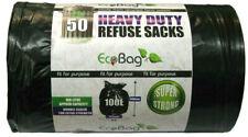 100 x Ecobag Heavy Duty Strong Refuse Sacks Rubbish Waste Bin Linner Black 100L
