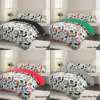 100% Brushed Cotton Duvet Cover Non Iron Quilt Flannel Bedding Set Double King