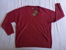 Brave Soul Women's Red V-Neck Knit Jumper Size 24 New With Tags