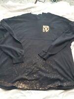 Disney Parks Walt Disney World Spirit Jersey Small Black Gold Long Sleeved Shirt