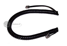 Phone Coil Curly Cord 9' Foot Length, Black