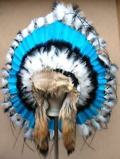 Genuine Native American Navajo Indian Headdress STILL WATER TRADITIONAL w/ tails