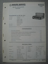 PHILIPS n6d11t Autoradio Service Manual, edizione 06/61