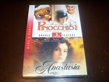 DOUBLE FEATURE Pinocchio & Anastasia Mystery Anna Romanov Classic Movies DVD NEW