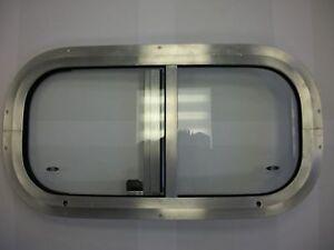 Horsebox Window 19 1/4 x 10 1/4 Side Slider Mill & Clear