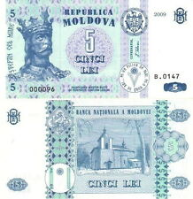 MOLDAVIA - Moldova 5 lei 2009 UNC FDS