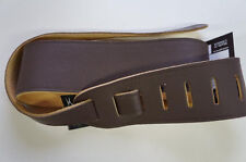 "Perris Leather 2 1/2"" Italian Garment Leather Guitar Strap Brown P25DX-2208"