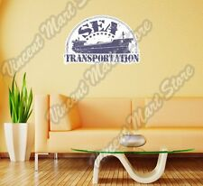 "Sea Transportation Vessel Ship Shipping Wall Sticker Room Interior Decor 25""X16"""