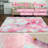 4 Size Nordic Large Size Gradient Colorful Carpet Soft Plush Rug Mat Home