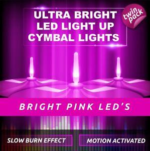 LIGHTENING BOLTZ- MEGA BRIGHT PINK LIGHT UP CYMBAL LIGHT VIBRATION SENSITIVE