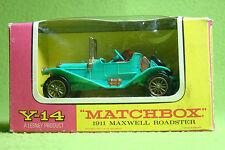 Maqueta de coche-Matchbox-models of Yesteryear y-14 - 1911 Maxwell Roadster