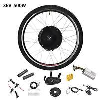 26'' Rear Wheel 36V 500W Electric Bicycle E-Bike Conversion Kit Cycling Motor