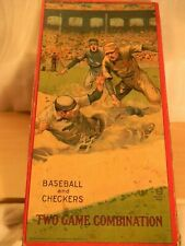 Baseball and Checkers Two Game combination by Milton Bradley  1920's