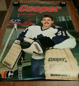 NEW VINTAGE COOPER NHL HOCKEY POSTER KEN WREGGET TORONTO MAPLE LEAFS 24X36GOALIE