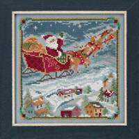 MILL HILL Counted Cross Stitch Beads Kit ST NICK QUARTET To All A Goodnight