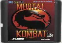 Mortal Kombat (1992) 16 Bit Game Card For Sega Genesis / Mega Drive System