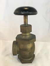 "Vintage Penberthy Radiator Brass Valve Bakelite Knob Handle Salvage 1 1/4"""