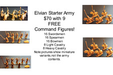 15mm Fantasy Elvian Starter Army (73 figures)