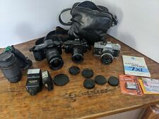 Lot Of Film Camera Minolta / Pentax / Canon With Lens And Flash and bag