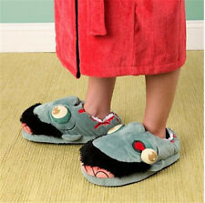 Adult Unisex Plush Zombie Slippers Ravenous Zombie Warm Slippers Home Footwear