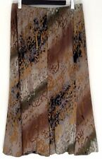 Knee-Length Polyester Animal Print A-Line Skirts for Women