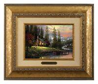 Thomas Kinkade A Peaceful Retreat Framed Brushwork (Gold Frame)