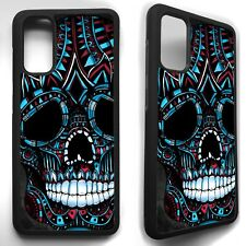 Sugar skull aztec art tattoo case cover for Samsung Galaxy s8 s9 S10 s20 plus