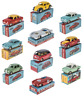 Set of 10 Model Cars 1:48 Mercury Mercedes Alfa VW Lancia Fiat Hachette Diecast