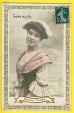 LA C.P.A. BONNE ANNÉE 1900 Superbe FEMME en COSTUME LADIES Edwardian Suit