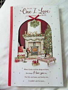CHRISTMAS CARD ~ONE I LOVE~ NEW~