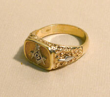 Antique Masonic Diamond & 10K Gold ring