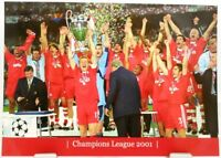 FC Bayern München + Fußball Champions League 2001 Winner Fan Big Card Edit. A141