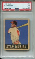 1948 Leaf Baseball #4 Stan Musial Rookie Card RC Graded PSA 1.5 '48